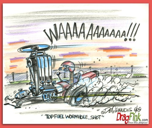 """Top Fuel Wormhole...shot"" by Jeff DeGrandis"