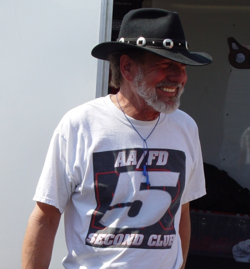 """Wild Bill"" Alexander and his Nitronic Research 5-Second Club shirt (photo by Cole Coonce)"